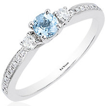 Le Vian 14ct Vanilla Gold Aquamarine Stacking Ring - Product number 4685792