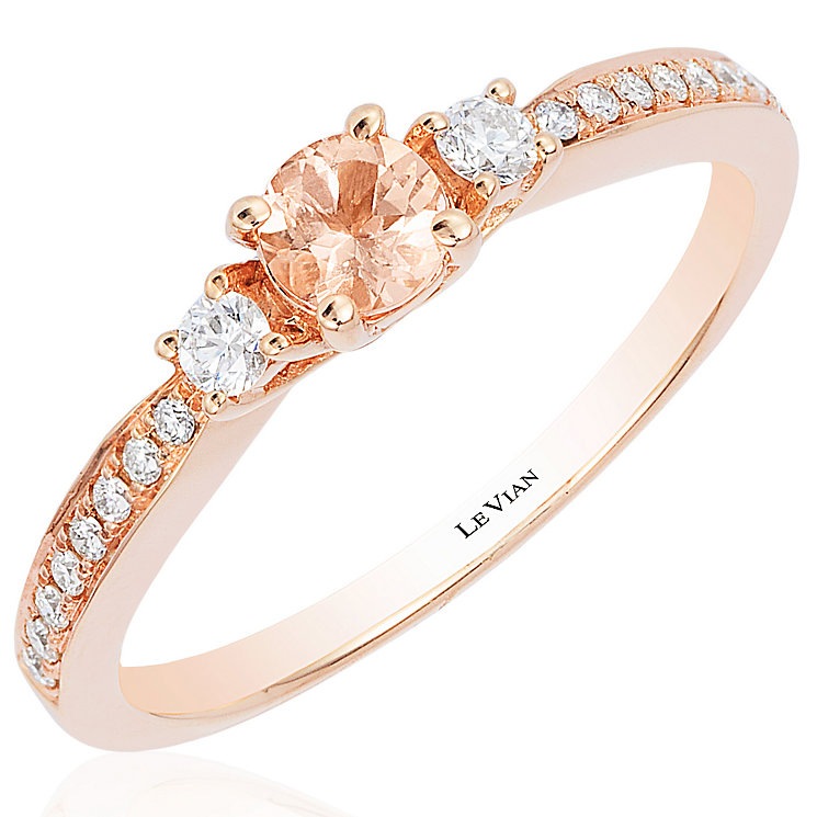 Le Vian 14ct Strawberry Gold Peach Morganite Stacking Ring - Product number 4685865