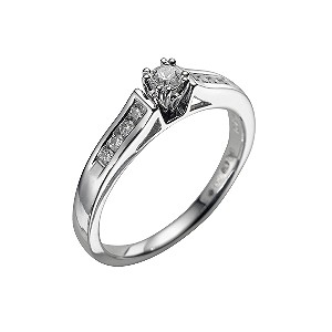 18ct white gold quarter carat diamond ring - Product number 4692551