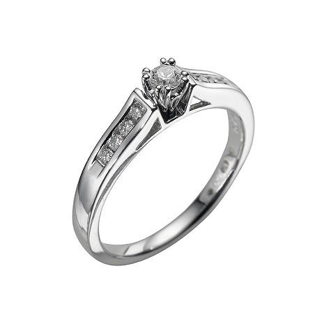 18ct white gold quarter carat diamond ring