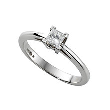 18ct white gold 0.25ct diamond solitaire ring - Product number 4693744