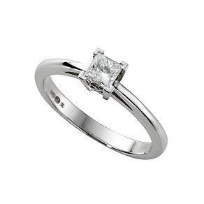 18ct white gold quarter carat diamond solitaire ring - Product number 4693744