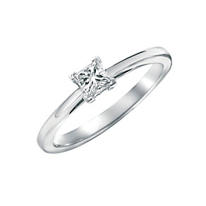 18ct white gold third carat diamond solitaire ring - Product number 4693876