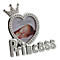 Silver-Plated Crystal Set Princess Photo Frame - Product number 4699718