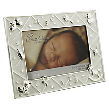 "Silver-Plated ABC Photo Frame 6""x 4"" - Product number 4699726"