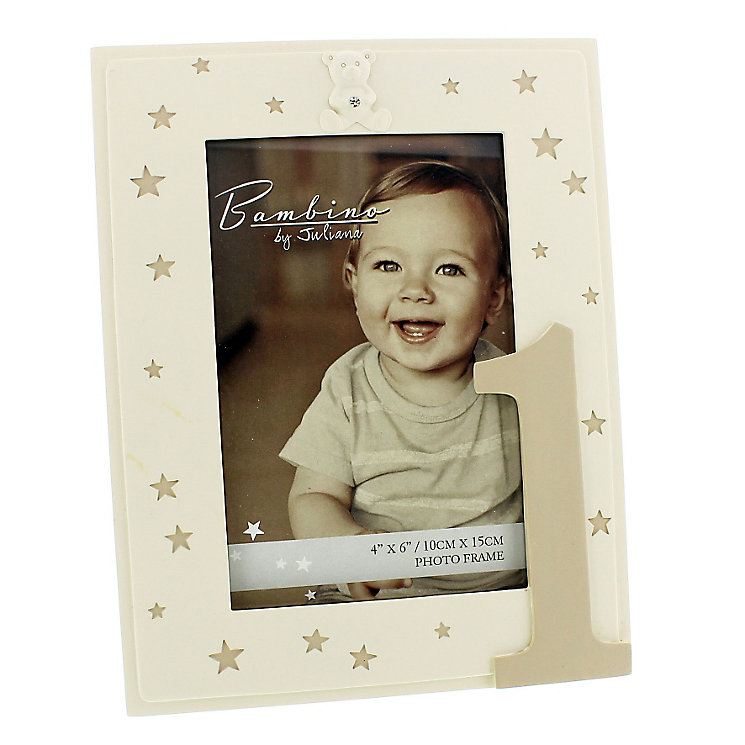 "1st Birthday Bambino Photo Frame 4""x 6"" - Product number 4699734"