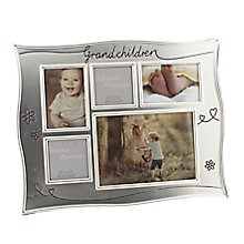 Silver-Plated Multi Aperture Grandchild Photo Frame - Product number 4699742