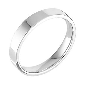 18ct white gold extra heavy flat court 5mm ring - Product number 4700627