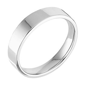18ct white gold extra heavy flat court 8mm ring - Product number 4701348