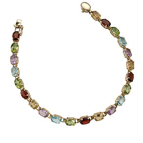 9ct gold stone-set bracelet - Product number 4705270