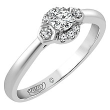 Emmy London Palladium 1/5 Carat Diamond Solitaire Ring - Product number 4706234
