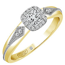 Emmy London 9ct Yellow Gold 1/4 Carat Diamond Solitaire Ring - Product number 4706757