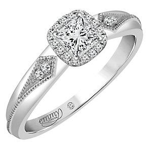 Emmy London Palladium 1/4 Carat Diamond Solitaire Ring - Product number 4706897