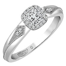 Emmy London 18ct White Gold 1/4 Carat Diamond Solitaire Ring - Product number 4707168