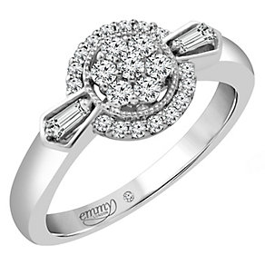 Emmy London White Gold 1/3 Carat Diamond Cluster Ring - Product number 4707559
