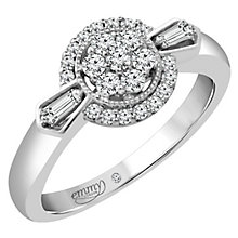 Emmy London Platinum 1/3 Carat Diamond Cluster Ring - Product number 4707826