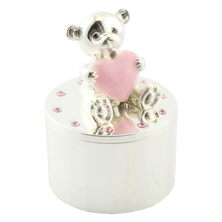 Silver-Plated Teddy Trinket Box - Product number 4707958