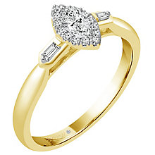 Emmy London 18ct Yellow Gold 1/4ct Diamond Solitaire Ring - Product number 4709160