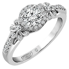 Emmy London Platinum 1/2 Carat Diamond Solitaire Ring - Product number 4709985