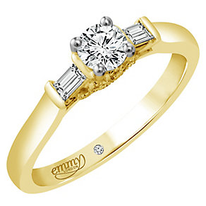 Emmy London 18ct Yellow Gold 2/5ct Diamond Solitaire Ring - Product number 4710258