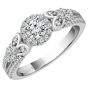 Emmy London Platinum 2/3 Carat Diamond Solitaire Ring - Product number 4710703