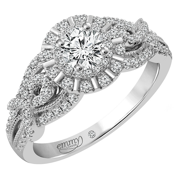 Emmy London Platinum 3/4 Carat Diamond Solitaire Ring - Product number 4711068