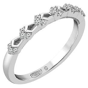 Emmy London Palladium Diamond Set Ring - Product number 4711874