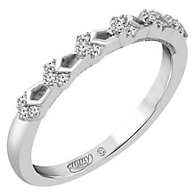 Emmy London Platinum Diamond Set Ring - Product number 4712277