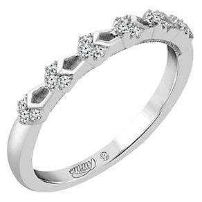 Emmy London Platinum Diamond Set Ring - Product number 4712277