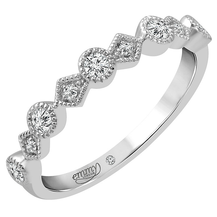 Emmy London 18ct White Gold 0.15 Carat Diamond Set Ring - Product number 4712404