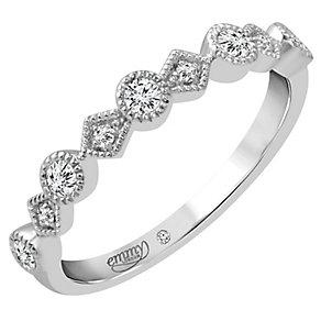 Emmy London 18ct White Gold 0.15 Carat Diamond Set Ring - Product number 4712404