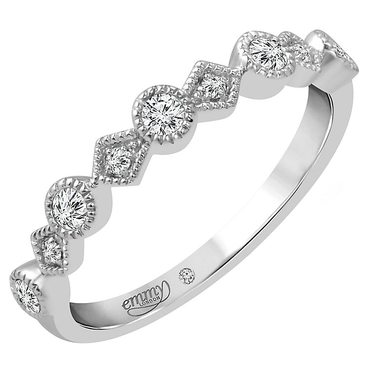 Emmy London Platinum 0.15 Carat Diamond Set Ring - Product number 4712544