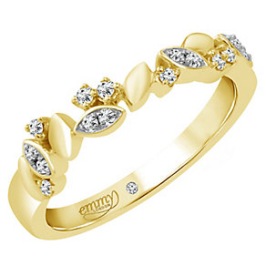 Emmy London 18ct Gold 1/10 Carat Diamond Set Ring - Product number 4712803