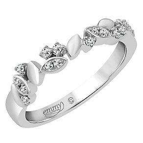 Emmy London Platinum 1/10 Carat Diamond Set Ring - Product number 4712935