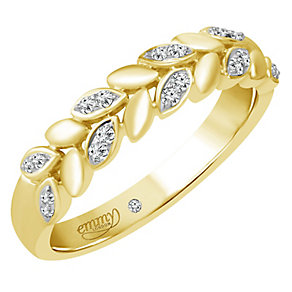 Emmy London 18ct Gold 1/10 Carat Diamond Set Ring - Product number 4713206