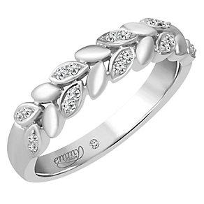 Emmy London Platinum 1/10 Carat Diamond Set Ring - Product number 4713346