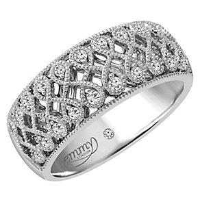 Emmy London 18ct White Gold 0.15 Carat Diamond Set Ring - Product number 4713729
