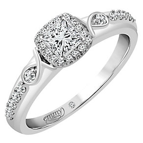 Emmy London Platinum 2/5 Carat Diamond Solitaire Ring - Product number 4713990