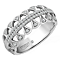 Emmy London Platinum 1/4 Carat Diamond Set Ring - Product number 4714385