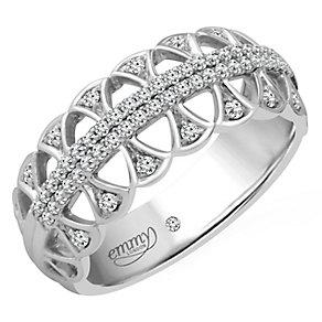 Emmy London Platinum 1/4 Carat Diamond Set Ring - Product number 4714385