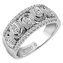 Emmy London Platinum 1/4 Carat Diamond Set Ring - Product number 4714512