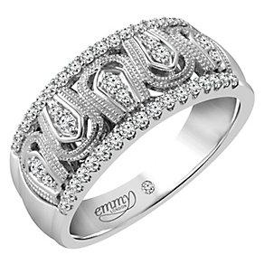 Emmy London Platinum 1/4 Carat Diamond Set Ring - Product number 4714512