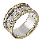 9ct two colour gold diamond ring - Product number 4715519