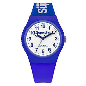 Superdry Urban Men's White Dial Blue Silicone Strap Watch - Product number 4716027