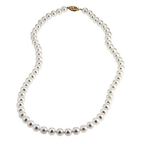 9ct Gold Certified Cultured Freshwater Pearl Necklace - Product number 4716035