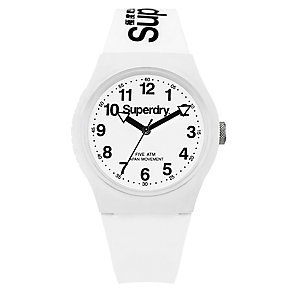 Superdry Urban Men's White Dial White Silicone Strap Watch - Product number 4716124