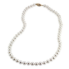 9ct Gold Certified Cultured Freshwater Pearl Necklace - Product number 4716132