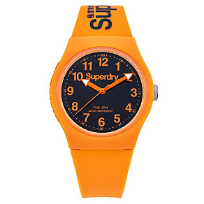 Superdry Urban Men's Blue Dial Orange Silicone Strap Watch - Product number 4716213
