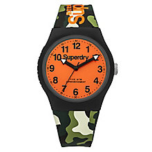 Superdry Urban Men's Camouflage Silicone Strap Watch - Product number 4716221