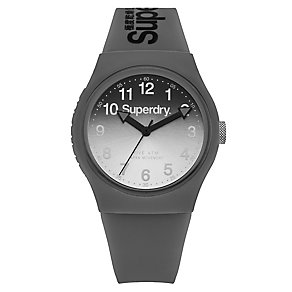Superdry Grey Dial Grey Silicone Strap Watch - Product number 4716248